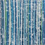 original abstract painting teal blue green