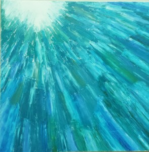 abstract art ocean painting