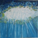 Cenote mexico painting art abstract