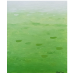 ombre gradation green abstract painting