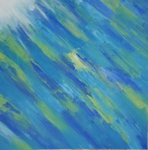 Abstract art underwater