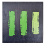 minimalist art painting green gradation charcoal gray