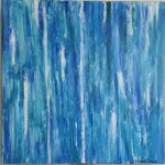 waterfall abstract art painting