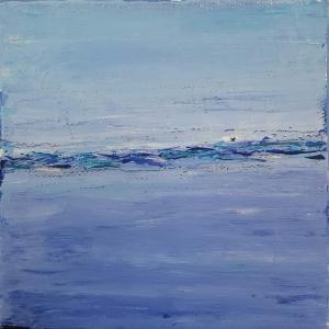 abstract painting mini art beach ocean