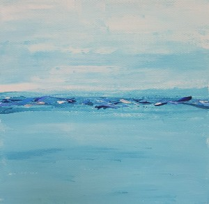 ocean painting mini art abstract
