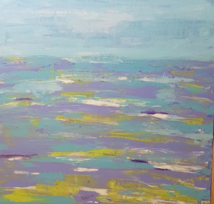 Abstract seascape ocean painting