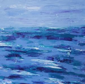 abstract landscape purple ocean