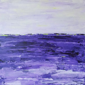 purple abstract ocean painting